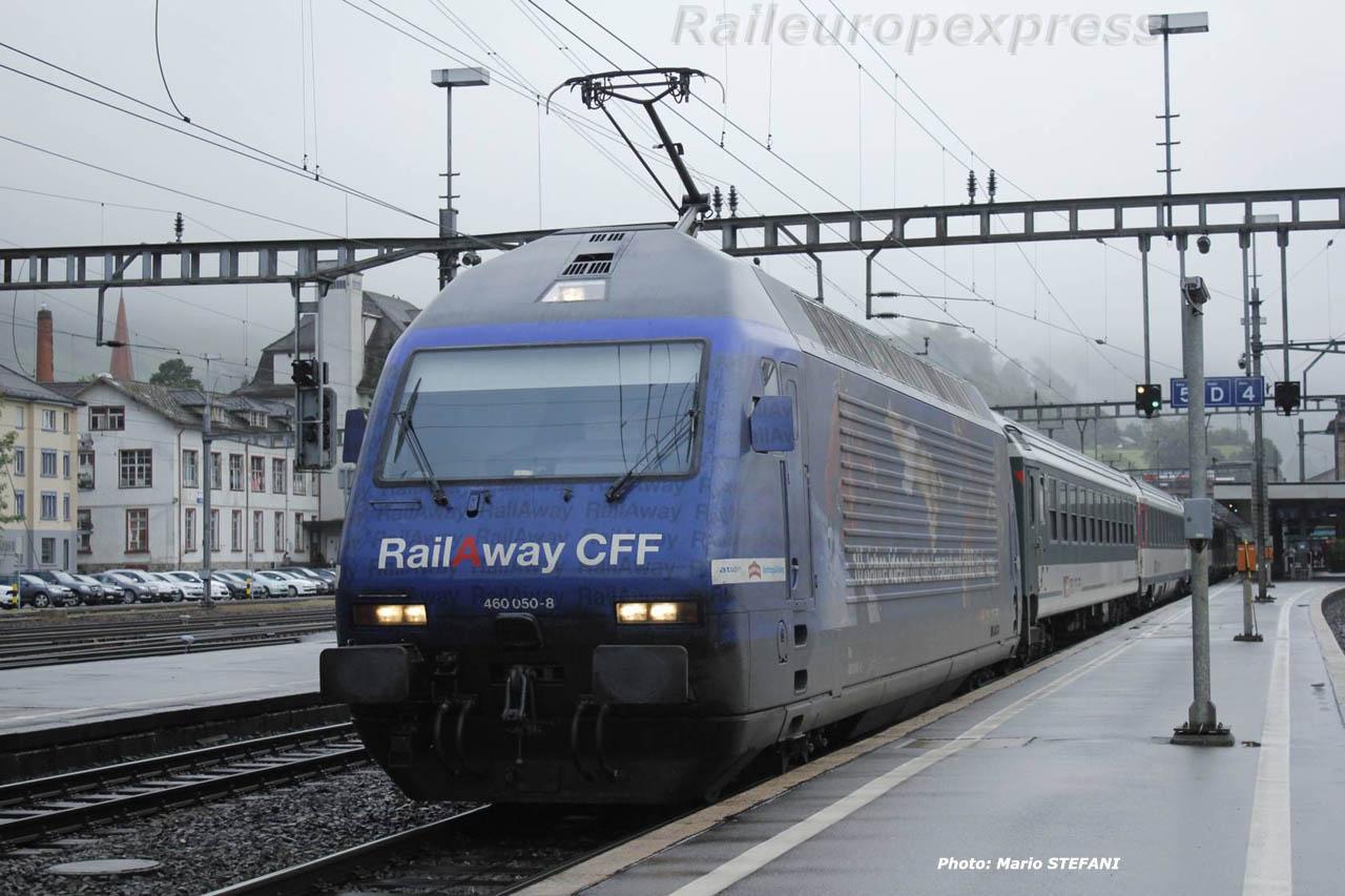 Re 460 050-8 CFF à Arth Goldau (CH)