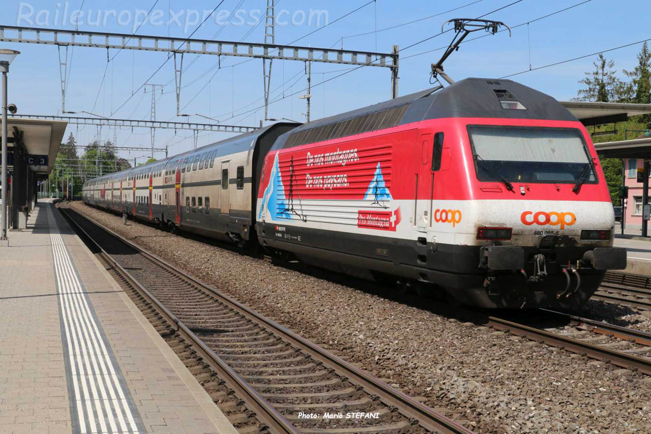 Re 460 056-6 CFF à Sissach (CH)