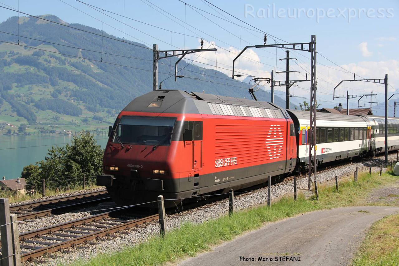 Re 460 068-0 CFF à Immensee (CH)
