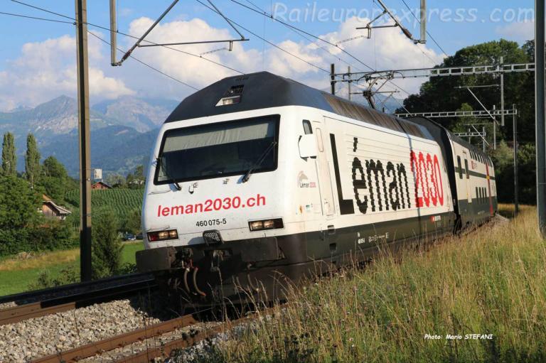 Re 460 075-5 CFF à Kumm (CH)