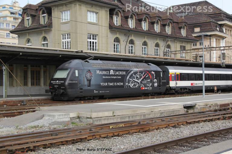 Re 460 076-3 CFF à Lausanne (CH)
