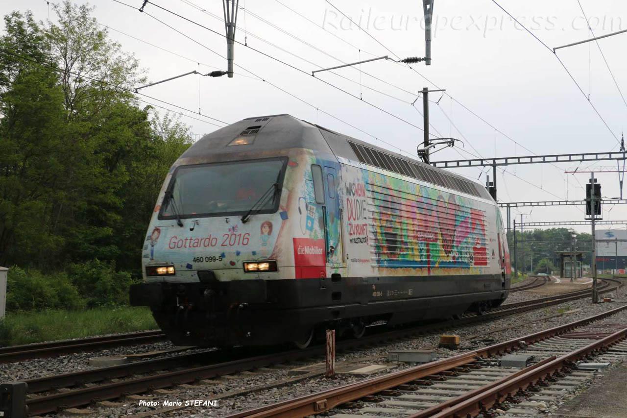Re 460 099-5 CFF à Boudry (CH)
