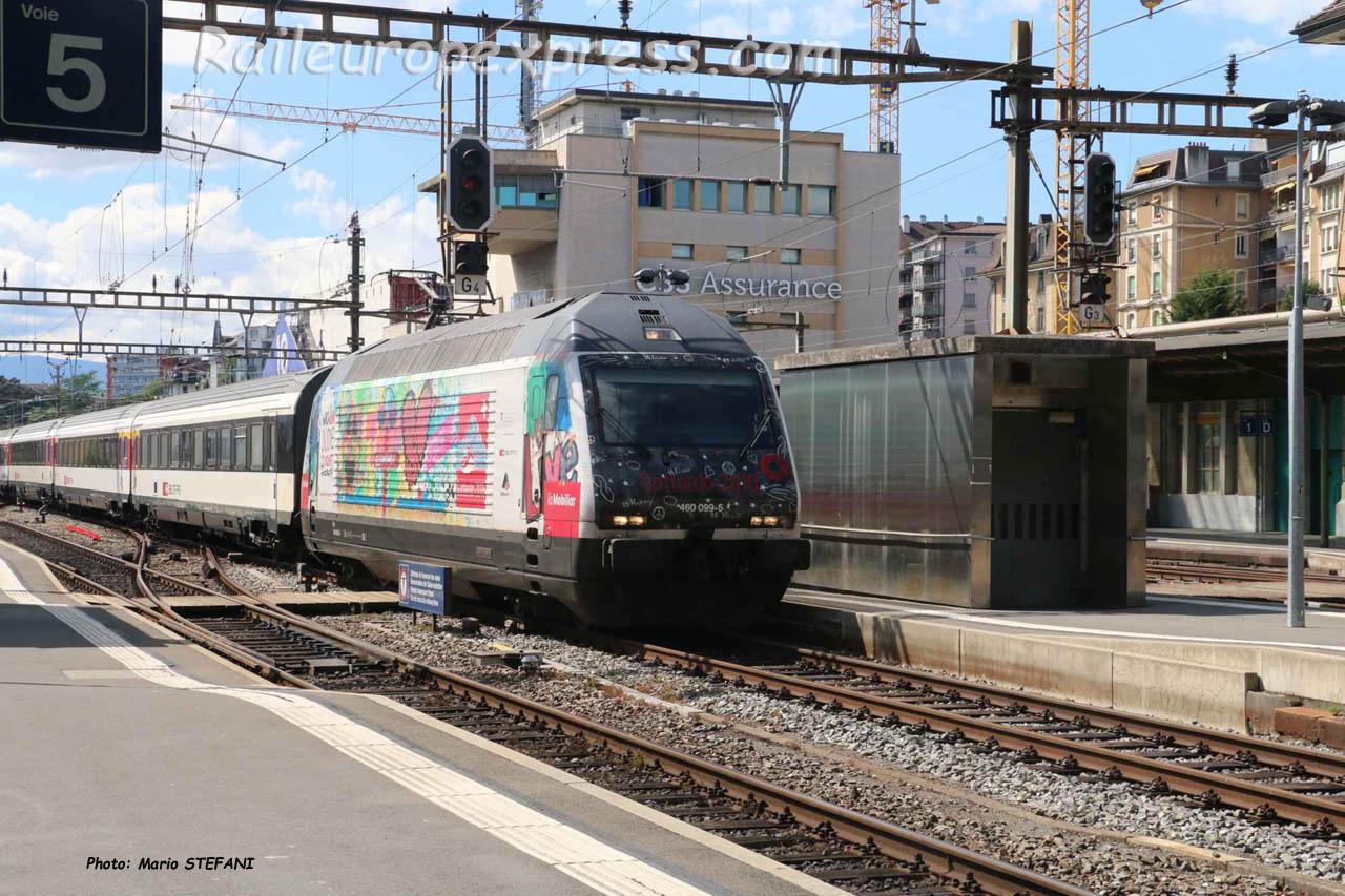 Re 460 099-5 CFF à Lausanne (CH)