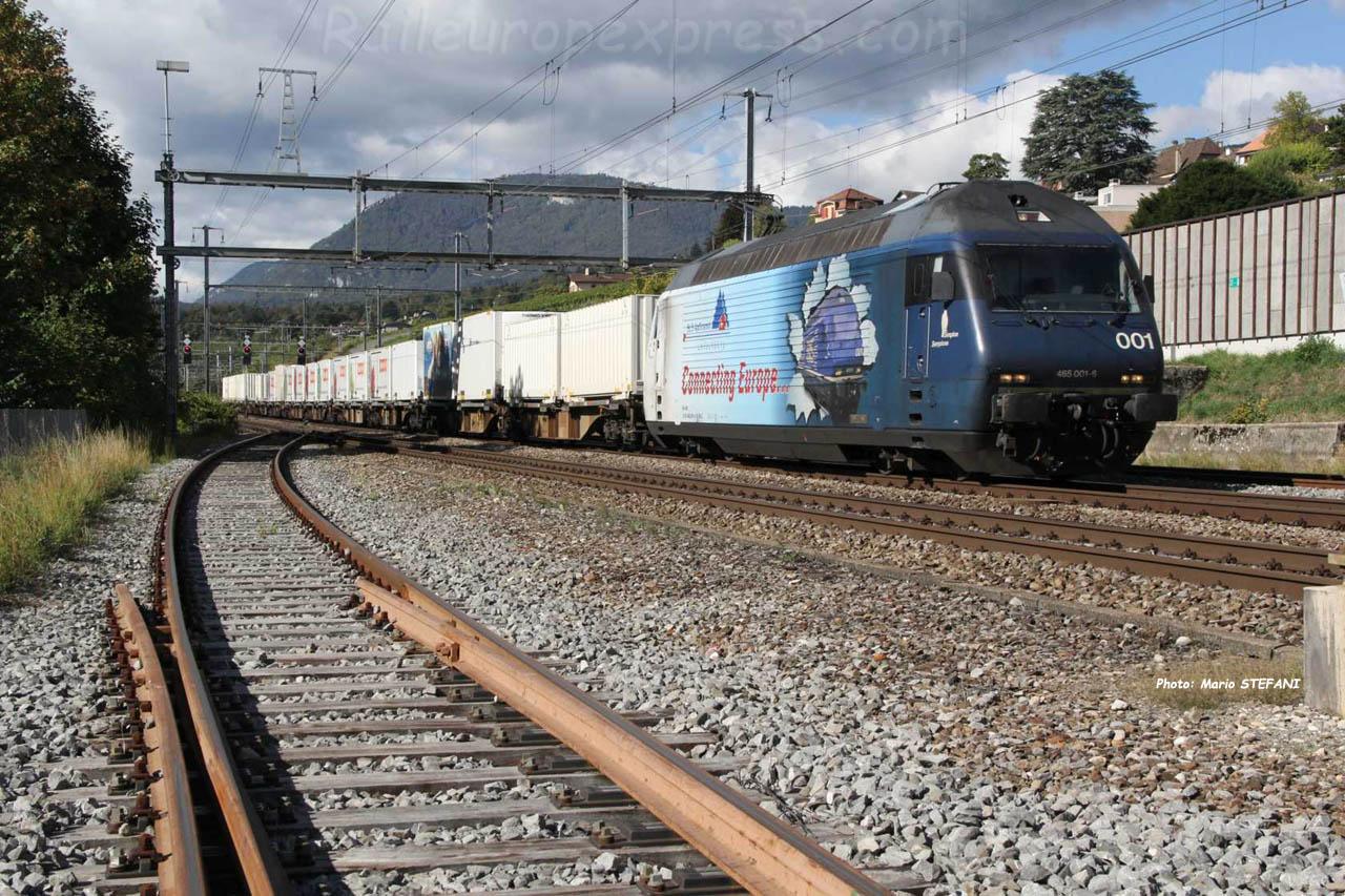 Re 465 001-6 BLS à Auvernier (CH)