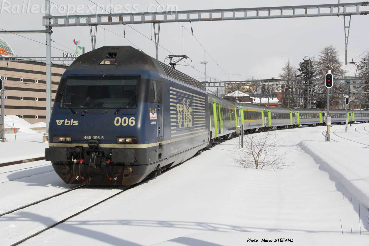 Re 465 006 BLS à La Chaux de Fonds (CH)