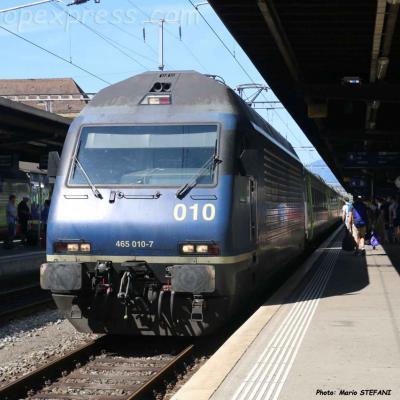 Re 465 010-7 BLS à  Neuchâtel (CH)