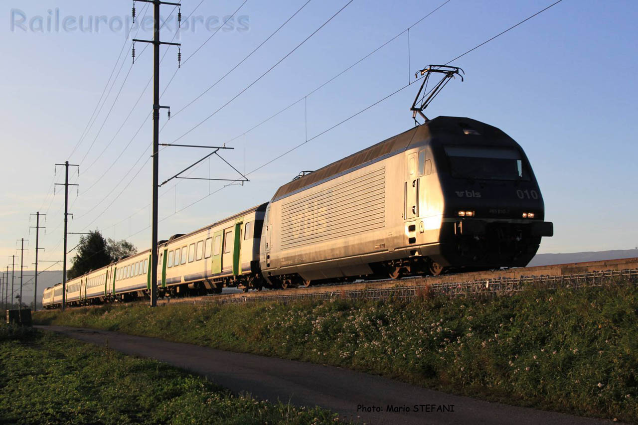 Re 465 010 BLS à Kerzers (CH)