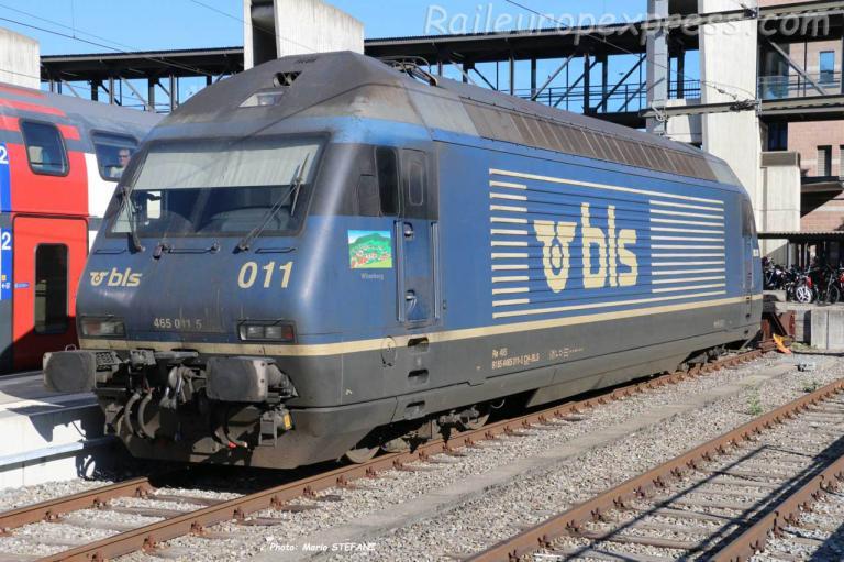 Re 465 011-5 BLS à Spiez (CH)