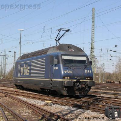 Re 465 011 BLS à Basel (CH)