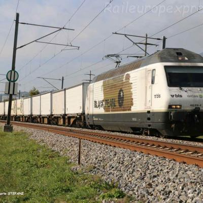 Re 465 016-4 BLS à Boudry (CH)