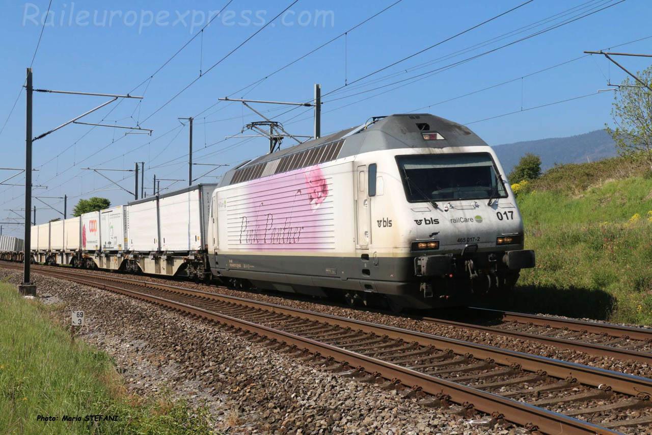 Re 465 017-2 BLS à Auvernier (CH)