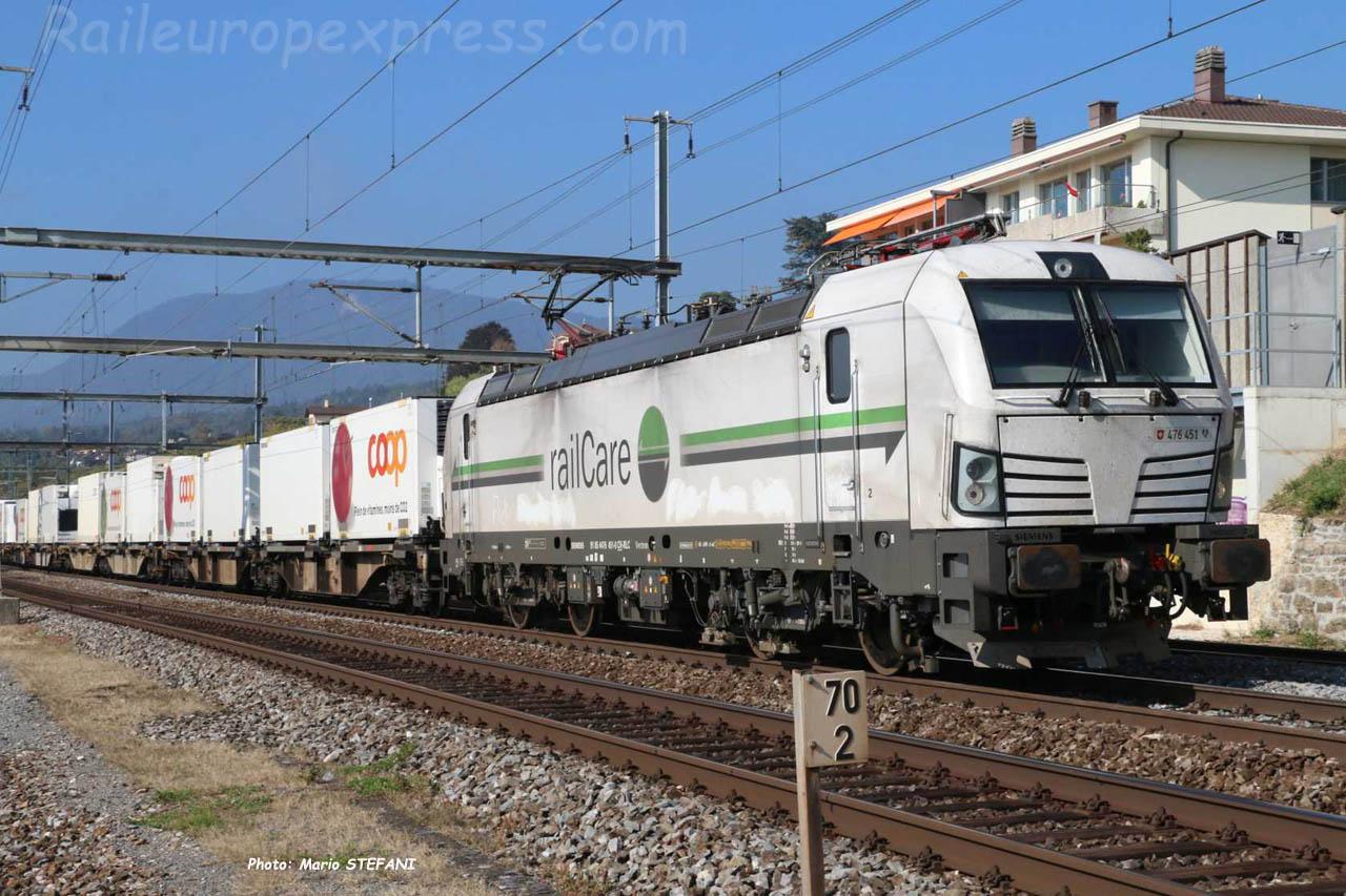 Re 476 451 RLC à Auvernier (CH)