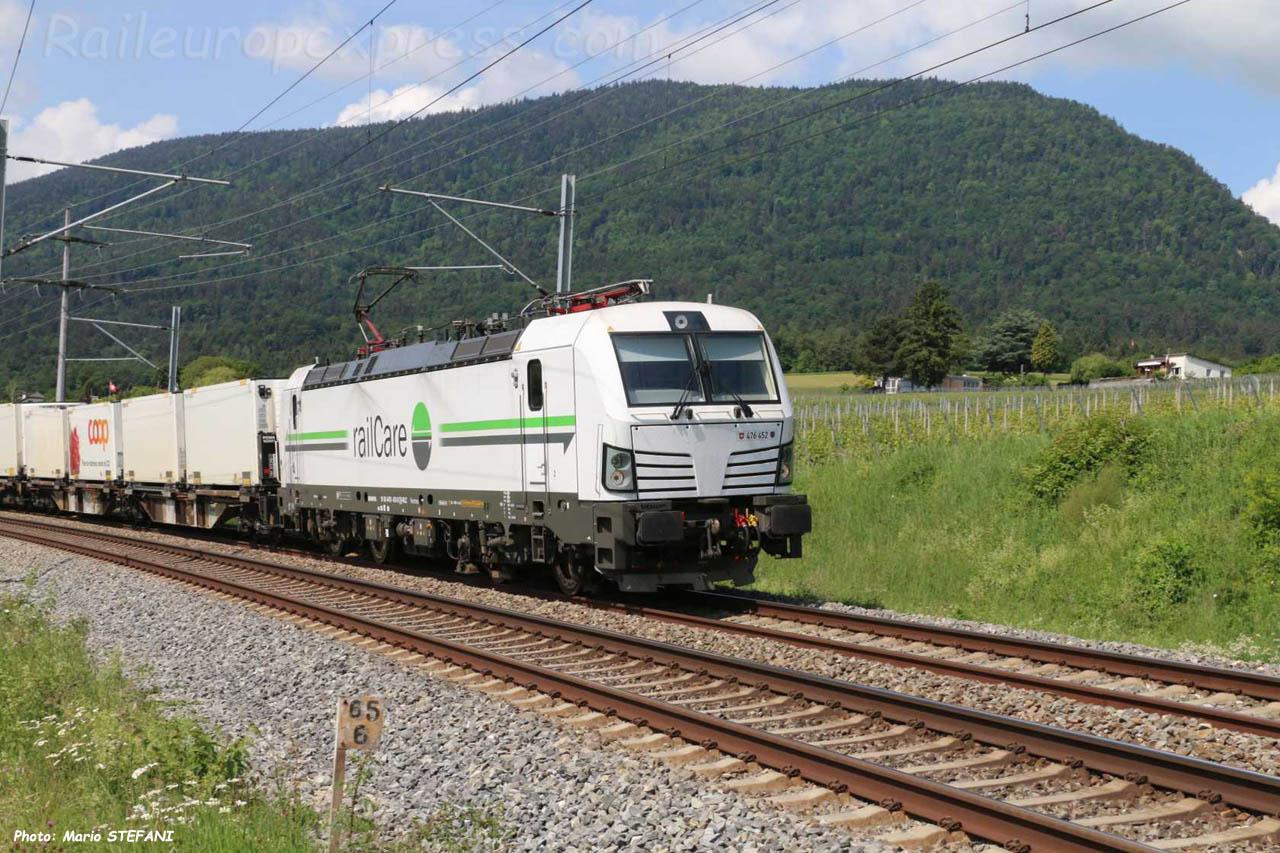 Re 476 452 RailCare à Boudry (CH)