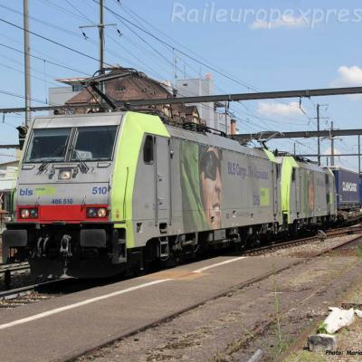 Re 486 510 BLS à Pratteln (CH)