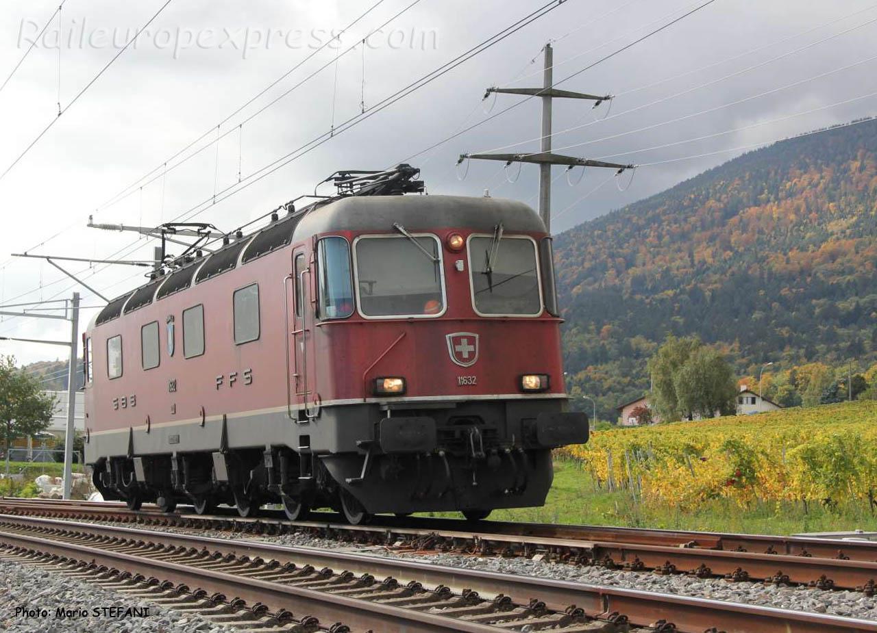 Re 6/6 11632 CFF à Boudry (CH)