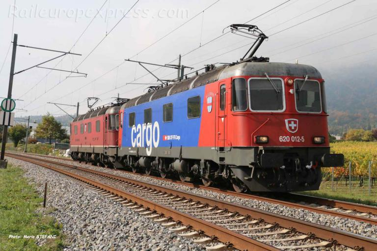 Re 620 012-5 CFF à Boudry (CH)