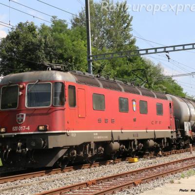 Re 620 017-4 CFF à Boudry (CH)