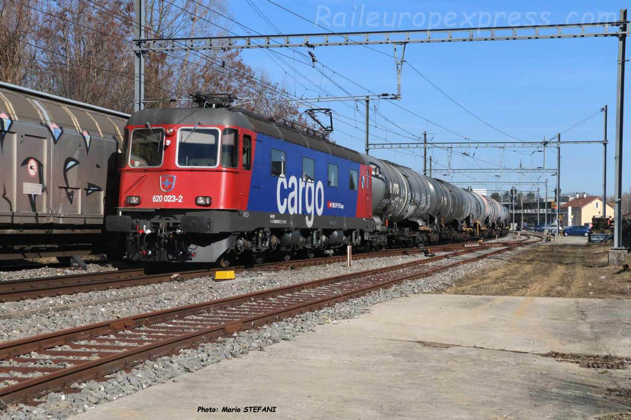 Re 620 023-2 CFF à Boudry (CH)