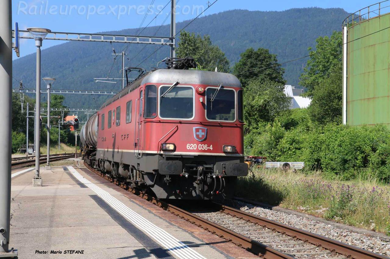 Re 620 036-4 CFF à Boudry (CH)
