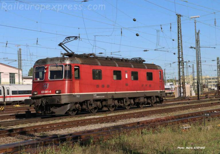Re 620 041-4 CFF à Basel Bad (CH)