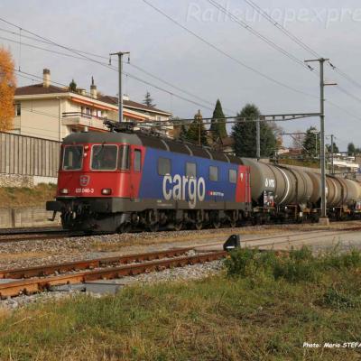 Re 620 046-3 CFF à Auvernier (CH)