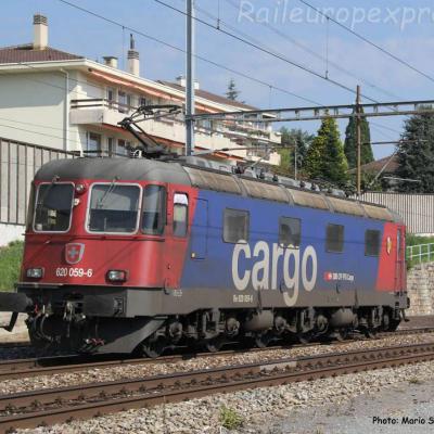 Re 620 059-6 CFF à Auvernier (CH)