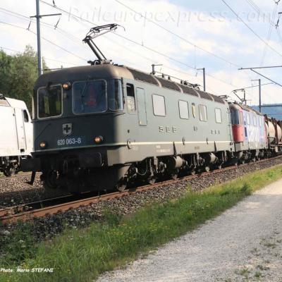 Re 620 063-8 CFF à Mattstetten (CH)