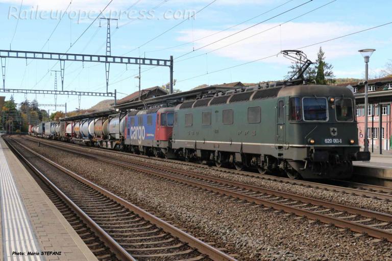 Re 620 063-8 CFF à Sissach (CH)