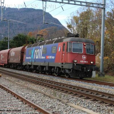 Re 620 088-5 CFF à Boudry (CH)