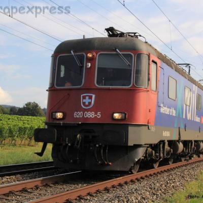 Re 620 088-5 CFF Xrail à Boudry (CH)