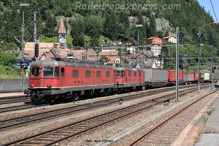 Re 6/6 11689 CFF à Göschenen (CH)
