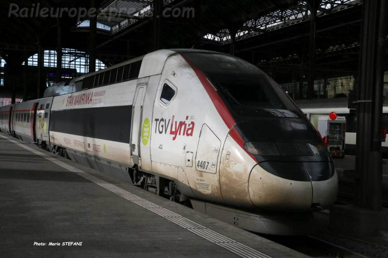 TGV 4407 SNCF à Basel (CH)