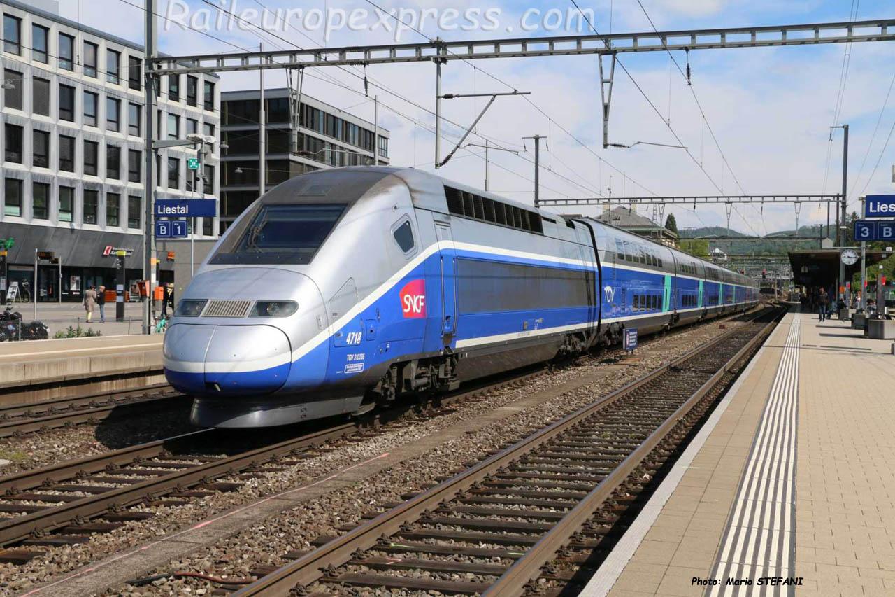 TGV 4718 SNCF à Liestal (CH)