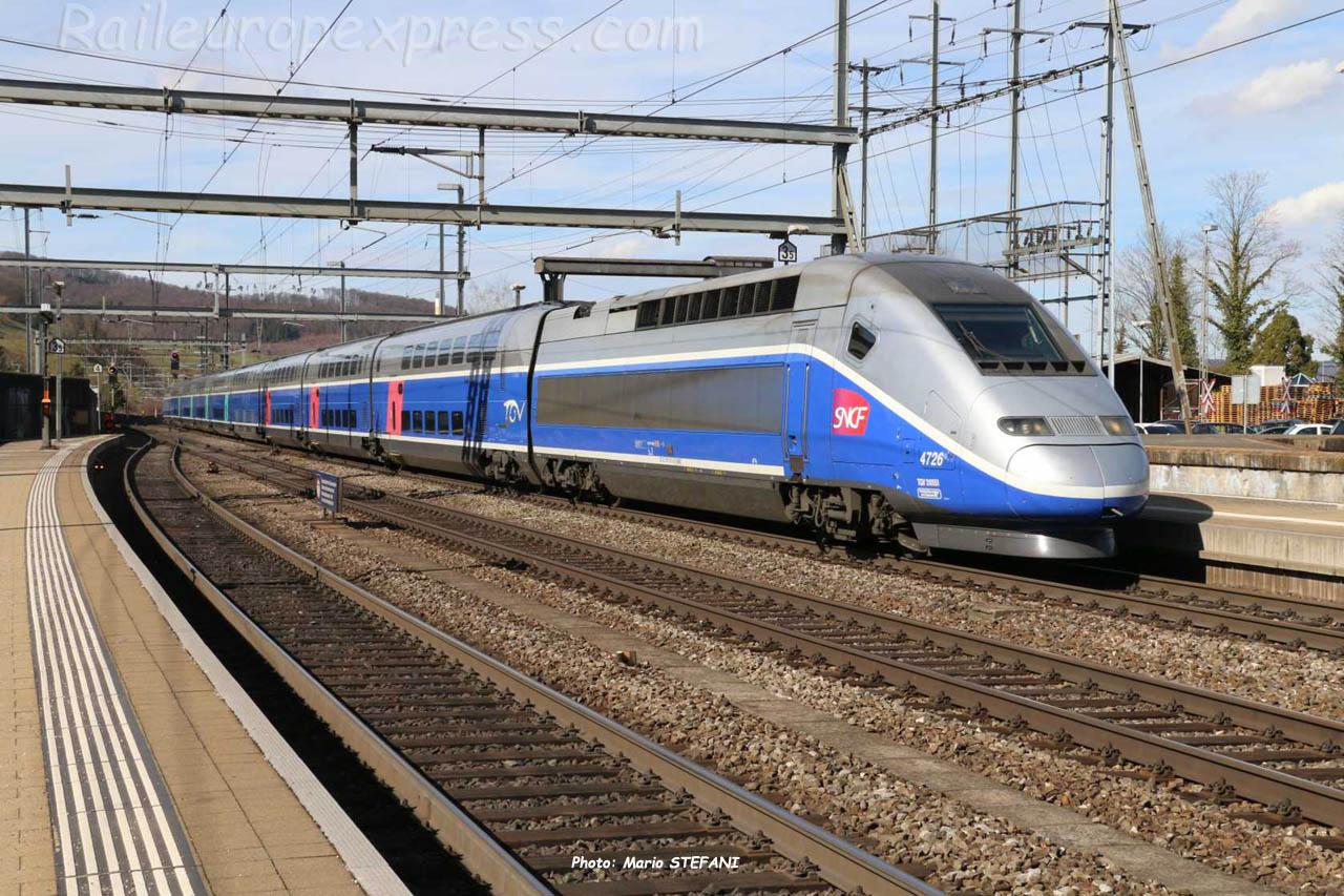 TGV SNCF à Liestal (CH)