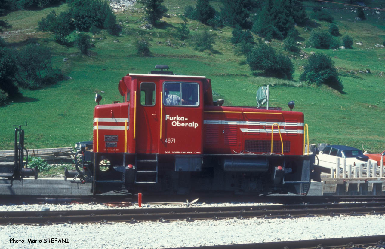 Tm 2/2 4971 FO à Oberwald (CH)