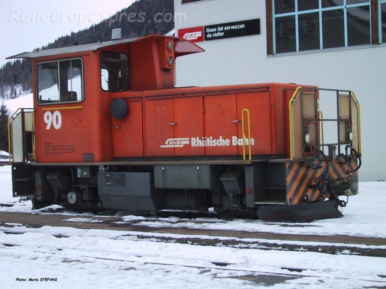 Tm 2/2 90 RhB à Zernez (CH)