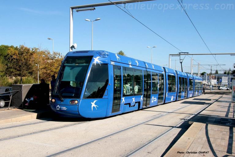 Tram ligne 1 à Montpellier (F-34)