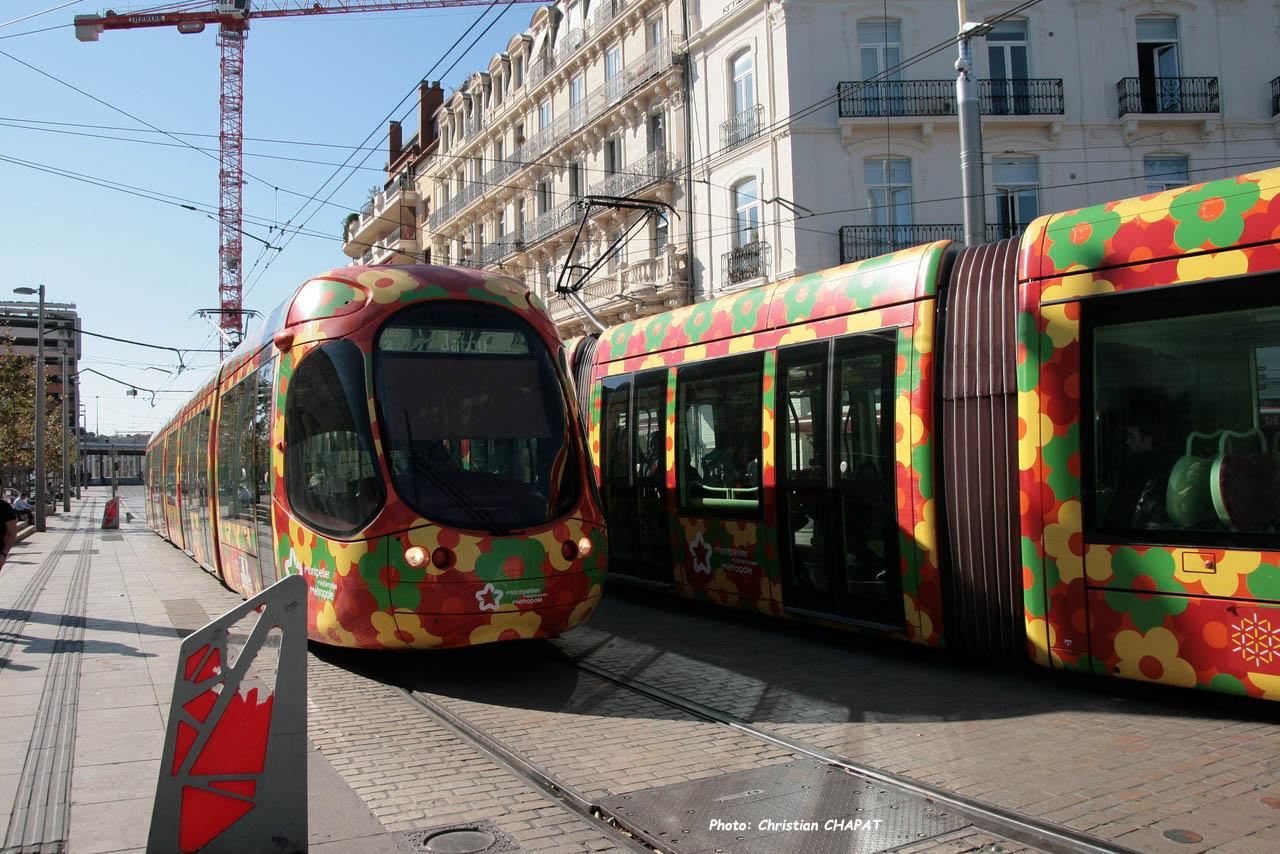 Tram ligne 2 à Montpellier (F-34)