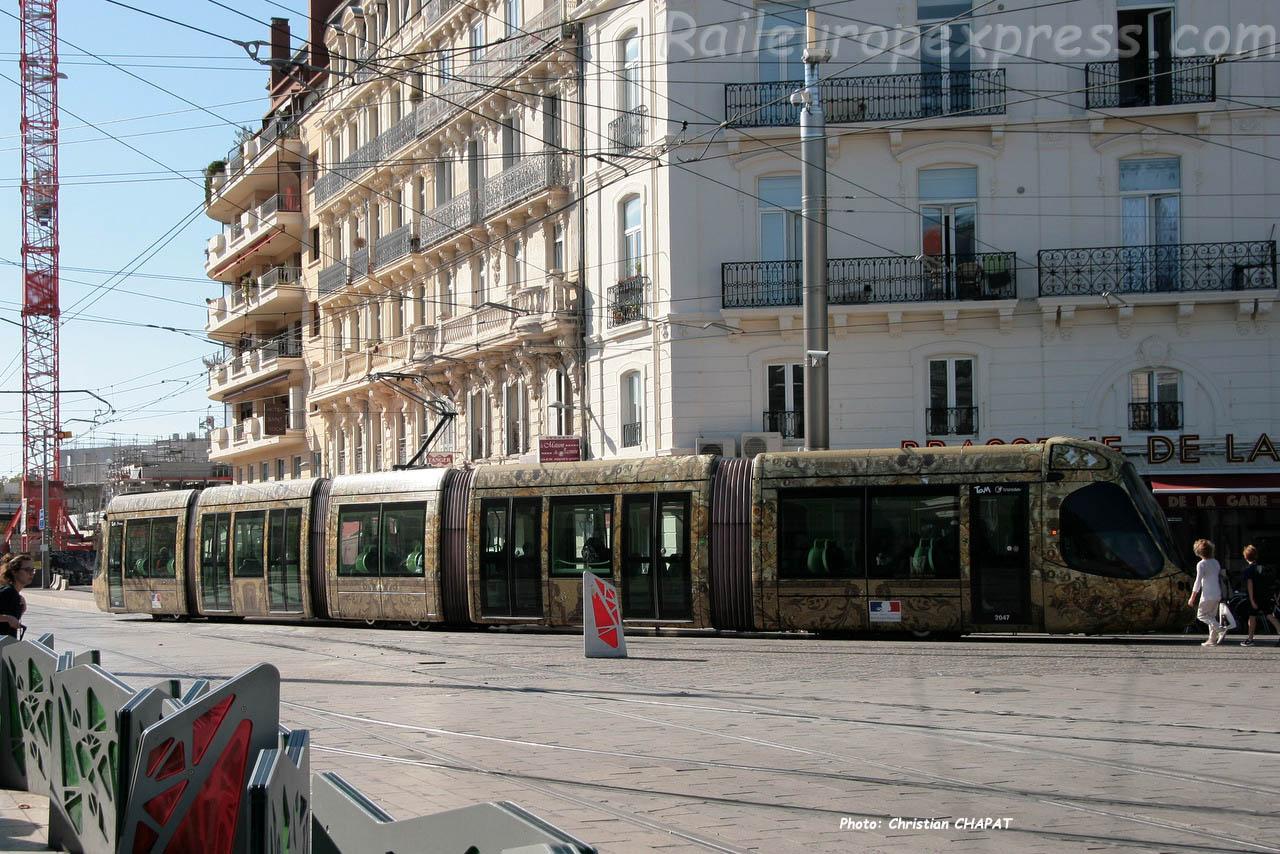 Tram ligne 4 à Montpellier (F-34)