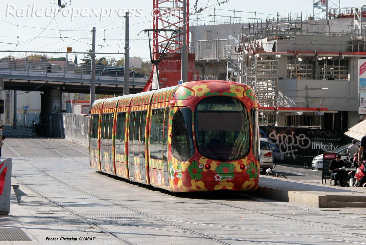 Tramway ligne 2 à Montpellier (F-34)