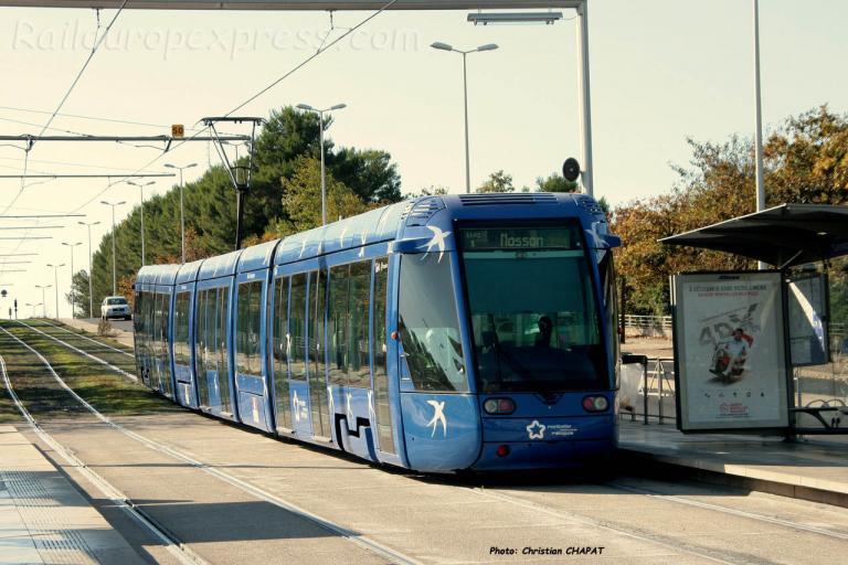 Tramway ligne 1 à Montpellier (F-34)
