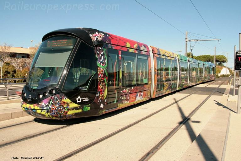 Tramway ligne 3 à Montpellier (F-34)