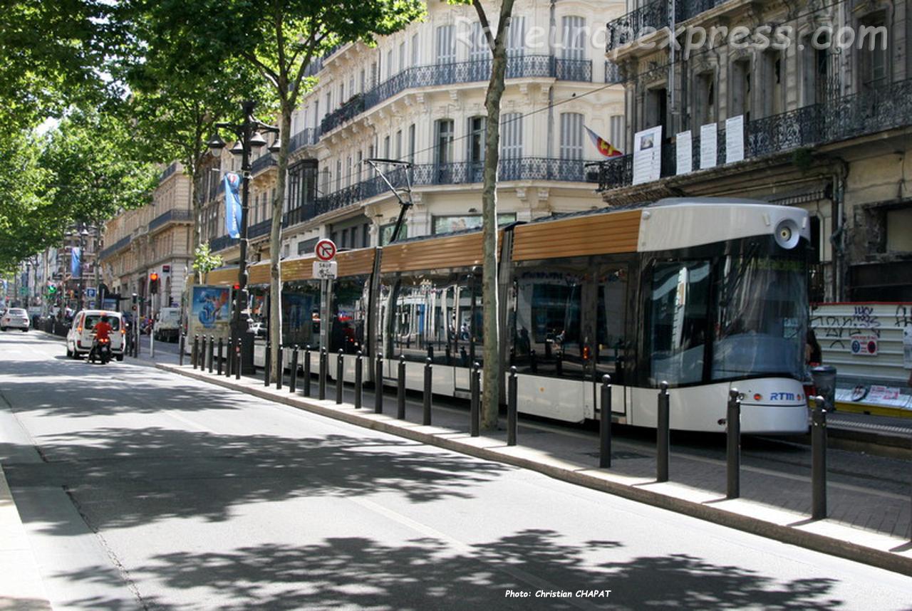 Tramway RTM à Marseille (F-13)
