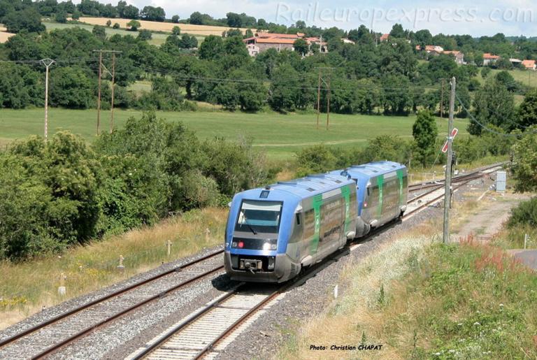 UM d'X 73500 SNCF à St Georges d'Aurac (F-43)