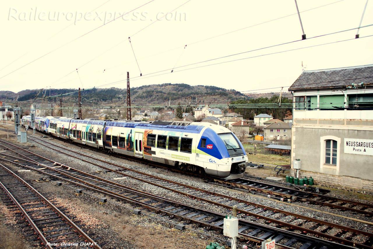 UM d'XGC SNCF à Neussargues (F-15)