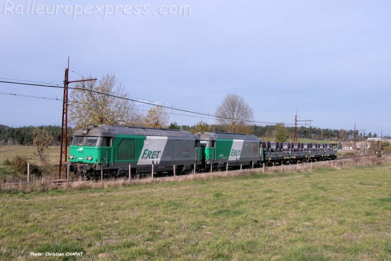 UM de BB 67400 SNCF à Loubaresse (F-15)