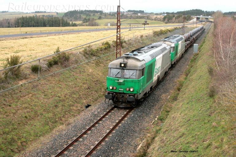 UM de BB 67400 SNCF près de Loubaresse (F-15)