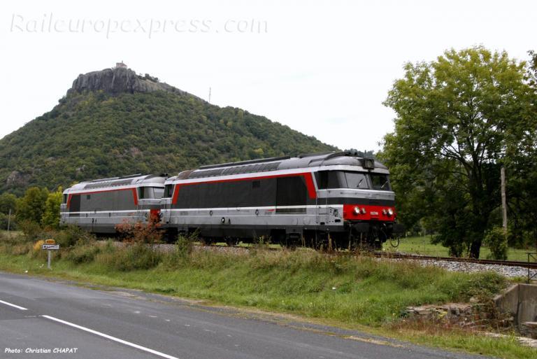UM de BB 67400 SNCF à Massiac (F-15)