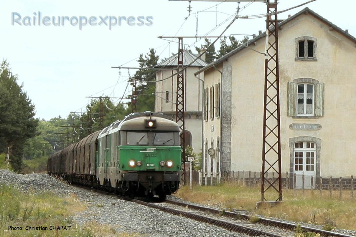 UM de BB 67400 SNCF à Ruynes en Margeride (F-15)
