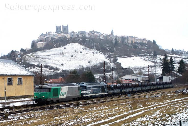 UM de BB 67400 SNCF à Saint Flour (F-15)